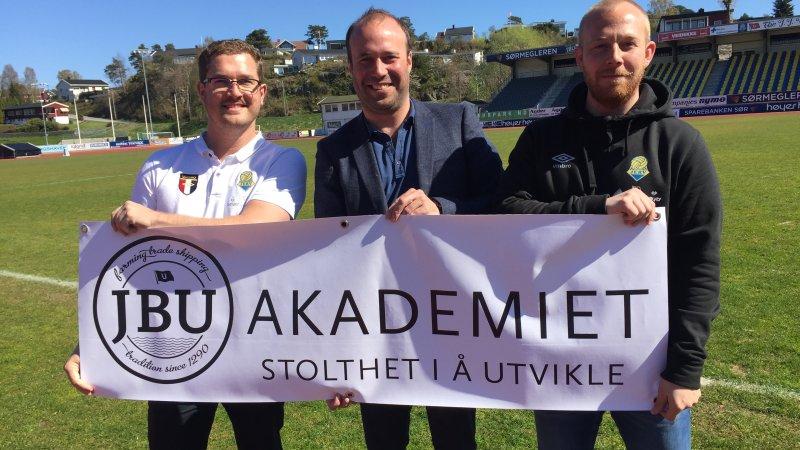 Trond Christoffersen (t.v), Johan Martin Ugland og Kim André Pedersen