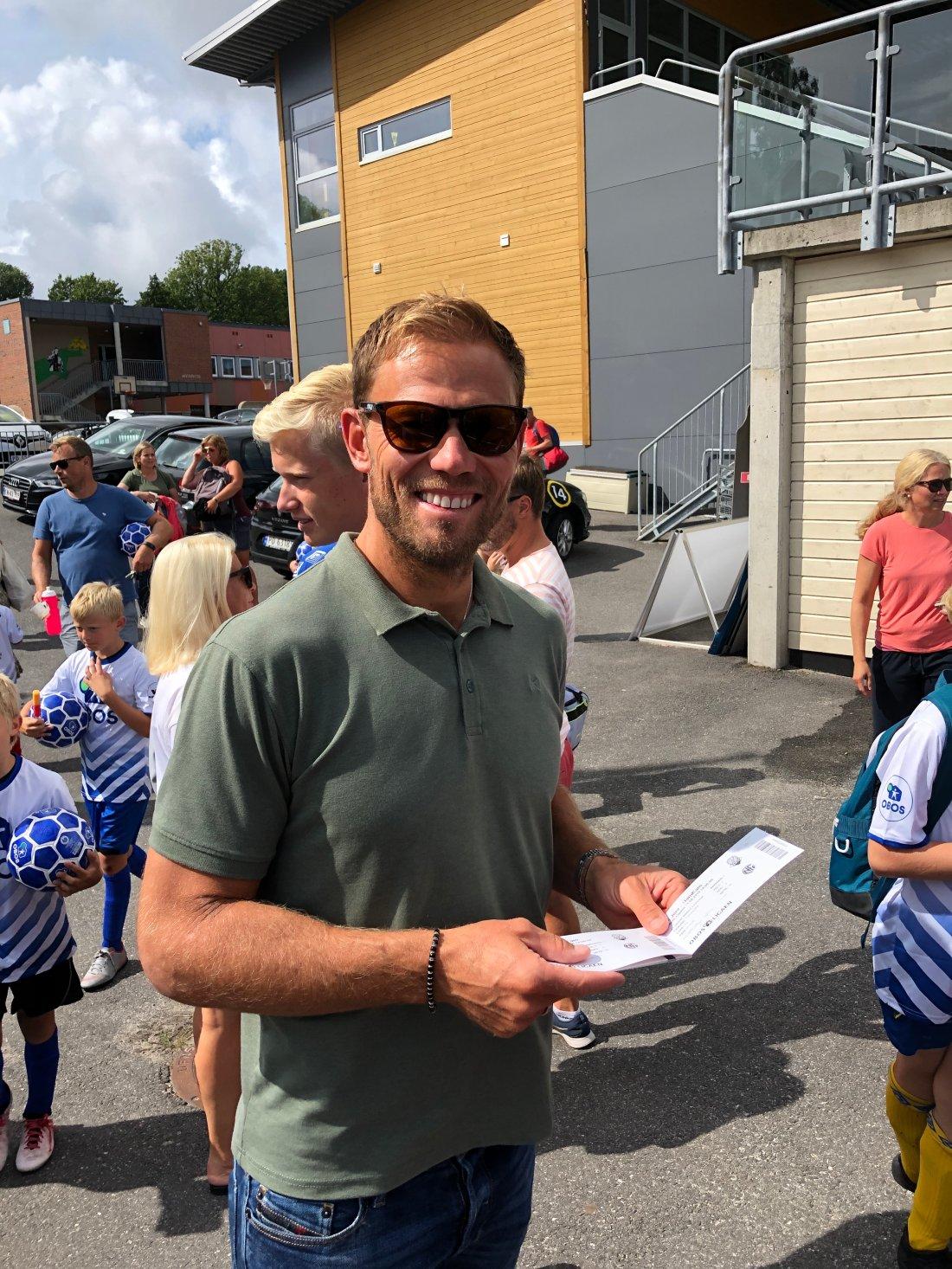 Thor Hushovd delte ut gratisbilletter til Jerv-Ham Kam